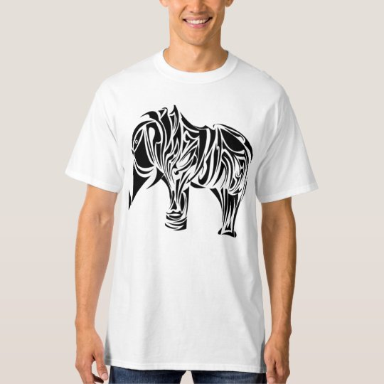 Beautiful Tribal Elephant Tattoo Design T-Shirt