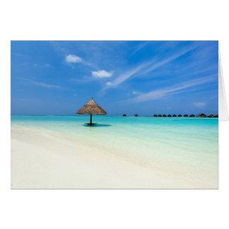 Beautiful tropical beach at Maldives Greeting Card
