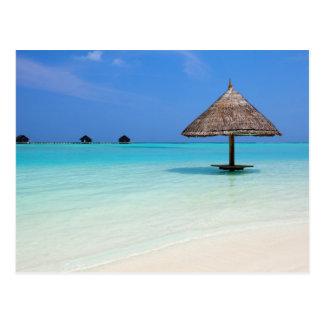 Beautiful tropical beach at Maldives Post Card