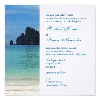 Beautiful Tropical Beach Wedding Invitiation 2 Announcement