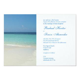 Beautiful Tropical Beach Wedding Invitiation -lg Invite