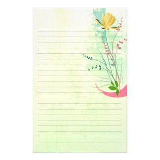 beautiful tropical exotic lily on washed pastels personalized stationery