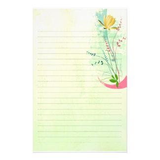 beautiful tropical exotic lily on washed  wedding personalised stationery