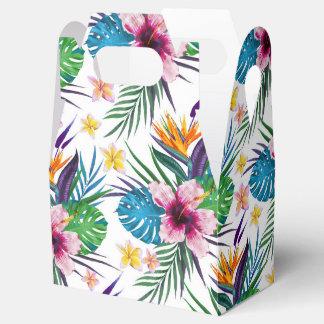 Beautiful tropical floral paint watercolors favour box
