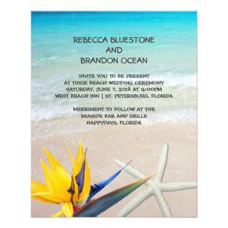 Beautiful Tropical Ocean Shore Wedding Paper 11.5 Cm X 14 Cm Flyer