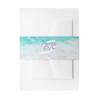 BEAUTIFUL TROPICAL OCEAN SUNRISE Belly Band Invitation Belly Band