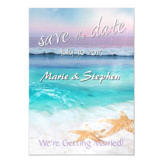 BEAUTIFUL TROPICAL OCEAN SUNRISE Save the Date Magnetic Invitations