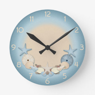 Beautiful Tropical Theme Beach Shells Clock