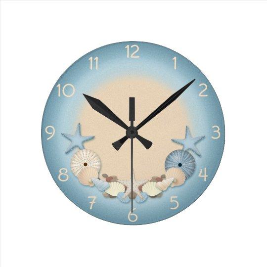 Beautiful Tropical Theme Beach Shells Clock