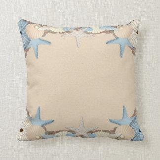 Beautiful Tropical Theme Beach Shells Cushion