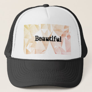 Beautiful Trucker Hat With Geometric Background
