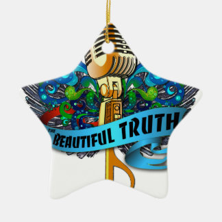 Beautiful Truth Microphone and Note Christmas Ornament