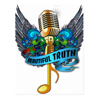 Beautiful Truth Microphone and Note Postcard