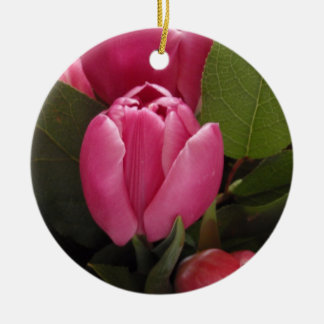 Beautiful Tulip Round Ceramic Decoration