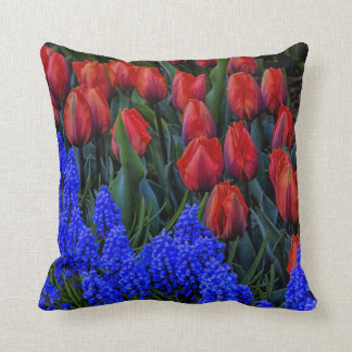 Beautiful Tulip Spring Flowers Photo Throw Pillow