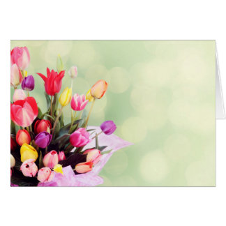 Beautiful tulips card