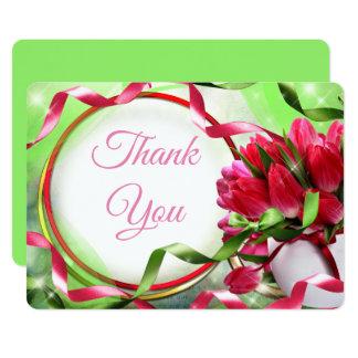 Beautiful tulips Thank You Card