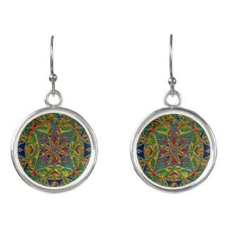 Beautiful Turquoise Colored Mandala Earrings