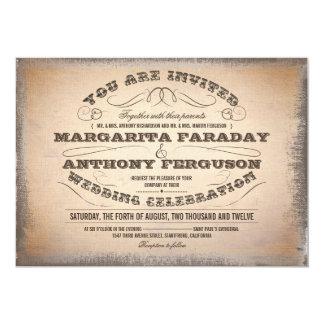 beautiful typographic vintage wedding invitations
