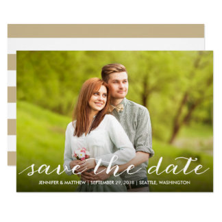 Beautiful Typography Photo Save the Date Card