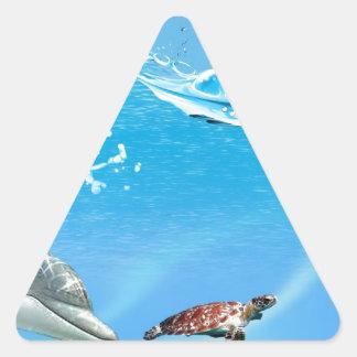 Beautiful underwater ( by Buzzo ) Triangle Sticker