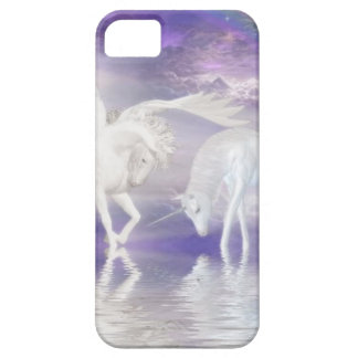 Beautiful Unicorn and Pegasus Fantasy Barely There iPhone 5 Case