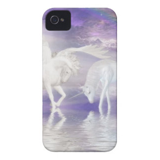 Beautiful Unicorn and Pegasus Fantasy iPhone 4 Cases