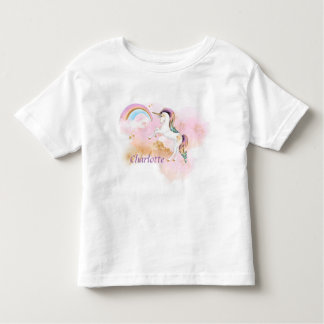 Beautiful Unicorn with Rainbow Toddler T-Shirt