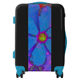 Beautiful Unusual Abstract Floral Art on Luggage