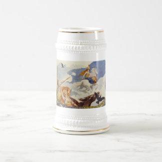 Beautiful Valkyries on Horseback Beer Stein