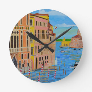 Beautiful Venice 2 Round Clock
