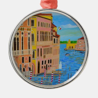 Beautiful Venice 2 Silver-Colored Round Decoration