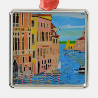 Beautiful Venice 2 Silver-Colored Square Decoration