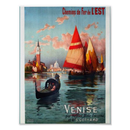 Beautiful Venice Italy Poster