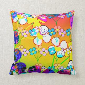 Beautiful Vibrant Abstract Floral Cushion