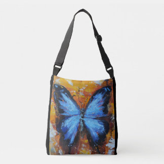 Beautiful Vibrant Blue Butterfly Tote Bag