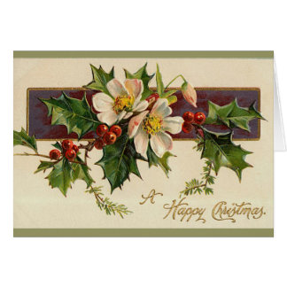 Beautiful Victorian Christmas Card