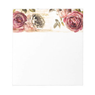 Beautiful Victorian Floral Painting Notepad
