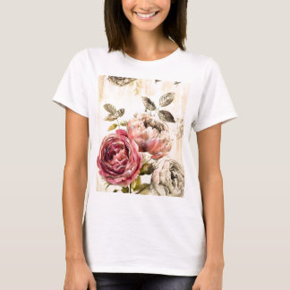 Beautiful Victorian Floral Painting T-Shirt