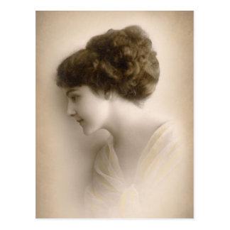 Beautiful Victorian Lady Portrait Postcard