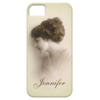 Beautiful Victorian Lady Portrait with Name iPhone 5 Case