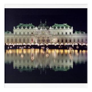 Beautiful Vienna Belvedere in December Acrylic Wall Art