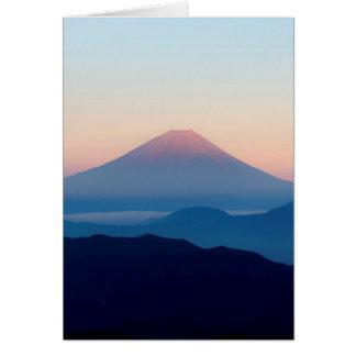 Beautiful view Mt. Fuji, Japan, Sunrise Card