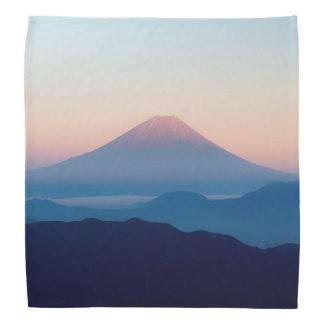 Beautiful view Mt. Fuji, Japan, Sunrise Kerchief