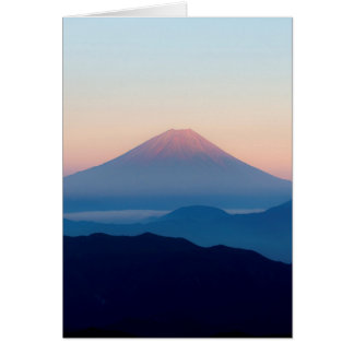Beautiful view Mt. Fuji, Japan, Sunrise Note Card