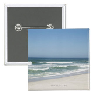 Beautiful view of beach against clear sky 2 15 cm square badge
