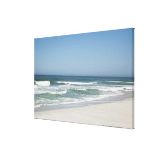 Beautiful view of beach against clear sky 2 gallery wrap canvas
