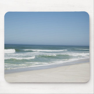 Beautiful view of beach against clear sky 2 mouse pad
