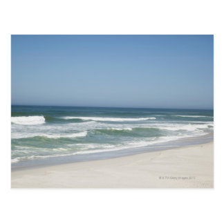 Beautiful view of beach against clear sky 2 postcard