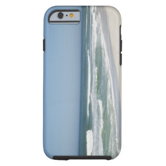 Beautiful view of beach against clear sky 2 tough iPhone 6 case